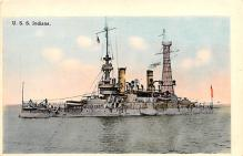mil051373 - Military Battleship Postcard, Old Vintage Antique Military Ship Post Card