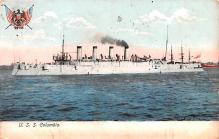 mil051374 - Military Battleship Postcard, Old Vintage Antique Military Ship Post Card