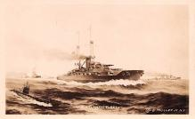 mil051382 - Military Battleship Postcard, Old Vintage Antique Military Ship Post Card