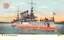 mil051389 - Military Battleship Postcard, Old Vintage Antique Military Ship Post Card