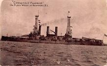 mil051395 - Military Battleship Postcard, Old Vintage Antique Military Ship Post Card