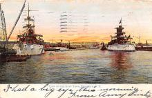 mil051403 - Military Battleship Postcard, Old Vintage Antique Military Ship Post Card