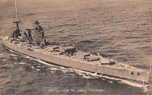 mil051405 - Military Battleship Postcard, Old Vintage Antique Military Ship Post Card
