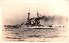mil051410 - Military Battleship Postcard, Old Vintage Antique Military Ship Post Card