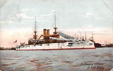 mil051411 - Military Battleship Postcard, Old Vintage Antique Military Ship Post Card