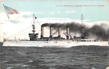 mil051413 - Military Battleship Postcard, Old Vintage Antique Military Ship Post Card