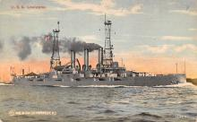 mil051421 - Military Battleship Postcard, Old Vintage Antique Military Ship Post Card