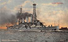 mil051423 - Military Battleship Postcard, Old Vintage Antique Military Ship Post Card