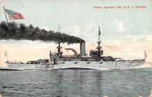 mil051424 - Military Battleship Postcard, Old Vintage Antique Military Ship Post Card