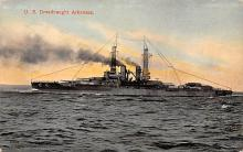 mil051427 - Military Battleship Postcard, Old Vintage Antique Military Ship Post Card