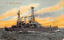 mil051429 - Military Battleship Postcard, Old Vintage Antique Military Ship Post Card