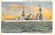 mil051445 - Military Battleship Postcard, Old Vintage Antique Military Ship Post Card