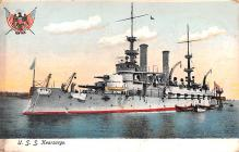 mil051460 - Military Battleship Postcard, Old Vintage Antique Military Ship Post Card