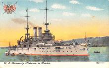 mil051463 - Military Battleship Postcard, Old Vintage Antique Military Ship Post Card