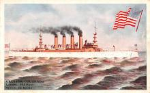 mil051467 - Military Battleship Postcard, Old Vintage Antique Military Ship Post Card