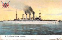 mil051468 - Military Battleship Postcard, Old Vintage Antique Military Ship Post Card