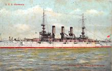 mil051477 - Military Battleship Postcard, Old Vintage Antique Military Ship Post Card