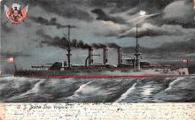 mil051487 - Military Battleship Postcard, Old Vintage Antique Military Ship Post Card