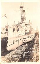 mil051500 - Military Battleship Postcard, Old Vintage Antique Military Ship Post Card