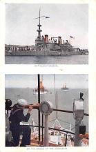 mil051507 - Military Battleship Postcard, Old Vintage Antique Military Ship Post Card