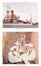 mil051508 - Military Battleship Postcard, Old Vintage Antique Military Ship Post Card