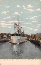 mil051512 - Military Battleship Postcard, Old Vintage Antique Military Ship Post Card