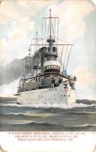 mil051513 - Military Battleship Postcard, Old Vintage Antique Military Ship Post Card