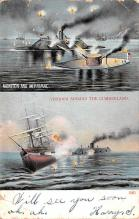 mil051514 - Military Battleship Postcard, Old Vintage Antique Military Ship Post Card