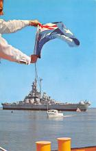 mil051515 - Military Battleship Postcard, Old Vintage Antique Military Ship Post Card