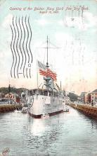 mil051525 - Military Battleship Postcard, Old Vintage Antique Military Ship Post Card