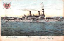 mil051535 - Military Battleship Postcard, Old Vintage Antique Military Ship Post Card