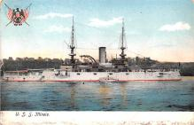 mil051537 - Military Battleship Postcard, Old Vintage Antique Military Ship Post Card