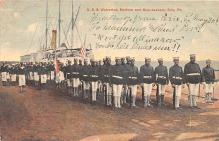 mil051541 - Military Battleship Postcard, Old Vintage Antique Military Ship Post Card
