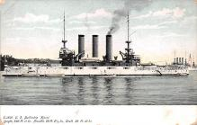 mil051559 - Military Battleship Postcard, Old Vintage Antique Military Ship Post Card