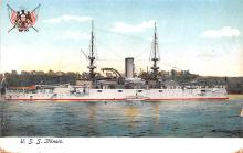 mil051562 - Military Battleship Postcard, Old Vintage Antique Military Ship Post Card