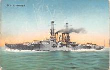 mil051564 - Military Battleship Postcard, Old Vintage Antique Military Ship Post Card