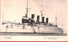 mil051573 - Military Battleship Postcard, Old Vintage Antique Military Ship Post Card