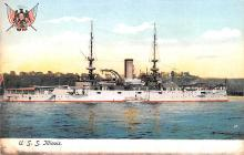 mil051577 - Military Battleship Postcard, Old Vintage Antique Military Ship Post Card