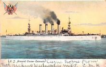 mil051578 - Military Battleship Postcard, Old Vintage Antique Military Ship Post Card