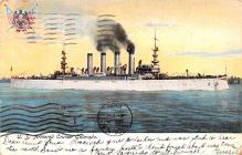 mil051579 - Military Battleship Postcard, Old Vintage Antique Military Ship Post Card