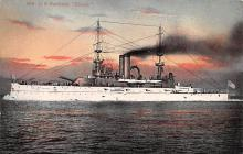 mil051595 - Military Battleship Postcard, Old Vintage Antique Military Ship Post Card