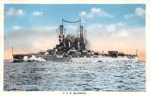 mil051600 - Military Battleship Postcard, Old Vintage Antique Military Ship Post Card