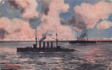 mil051601 - Military Battleship Postcard, Old Vintage Antique Military Ship Post Card