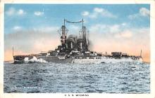 mil051602 - Military Battleship Postcard, Old Vintage Antique Military Ship Post Card