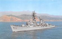 mil051613 - Military Battleship Postcard, Old Vintage Antique Military Ship Post Card
