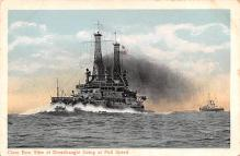 mil051622 - Military Battleship Postcard, Old Vintage Antique Military Ship Post Card