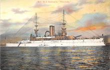 mil051631 - Military Battleship Postcard, Old Vintage Antique Military Ship Post Card
