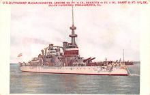 mil051633 - Military Battleship Postcard, Old Vintage Antique Military Ship Post Card