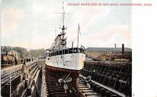 mil051654 - Military Battleship Postcard, Old Vintage Antique Military Ship Post Card