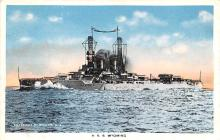 mil051660 - Military Battleship Postcard, Old Vintage Antique Military Ship Post Card